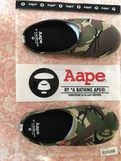 Aape by A Bathing APE 迷彩拖鞋