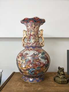 Old Chinese Vase Porcelain Height 45 cm Top Diameter 20 cm Thickest Diameter 28 cm Base Diameter 17 cm Blk407 Hougang Ave10