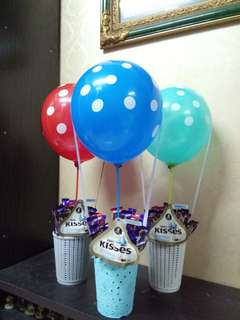 Hot air balloon chocobouquet