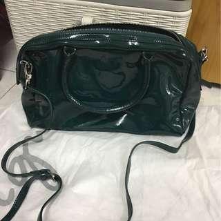 Agnes b 墨綠色 袋