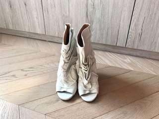 Martin Margiela Crinkled leather ankle boots shoes 皮短靴鞋mm6 sacai toga