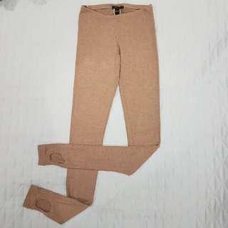 Mango Beige Leggings with back detail