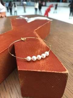 手工制天然珍珠手鈪