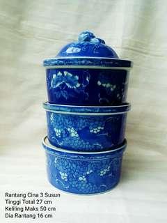 Rantang Cina 3 Susun (Keramik)