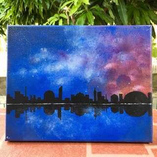 Night Sky Original Painting (Acrylic on Canvas)