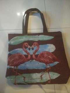 Flamingo canvas bag