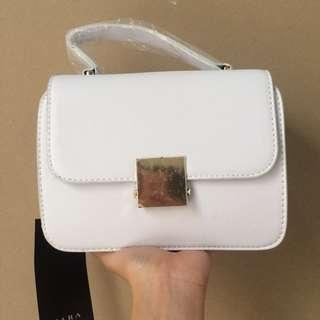 Zara Fur Crossbody White (NEW)