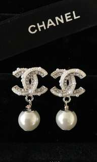 Chanel Pearl Studs Earrings