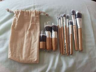 bamboo make up brush set