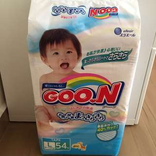 Goon tape L size diapers