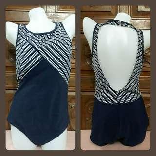 Stripes one piece swimsuit