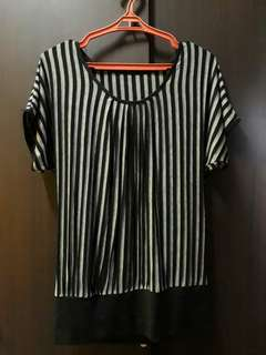 Black Lined Blouse