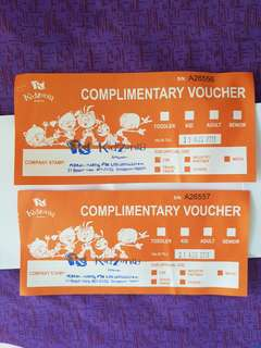 Kidzania Voucher for sale!2 tickets valid till August 31,2018