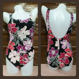 Full floral one piece swimsuit