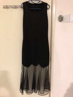 Cocktail Dress with Mesh Details