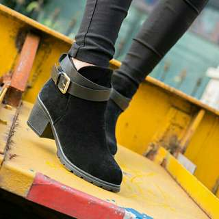 Ladies Faux Suede Ankle Boot