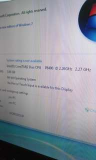 Asus  15inches  ram 3gb. Hdd 300