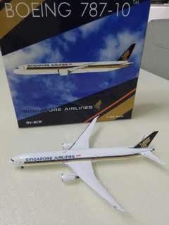 Singapore Airlines 787 model plane