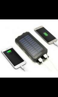 Powerbank sinofer tenaga matahari dgn 2 port usb 12000 mah