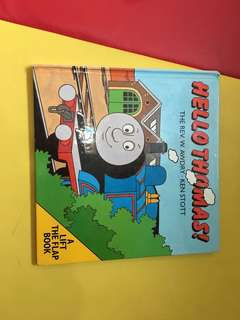 Pre-loved thomas lift the flap book (hard cover)