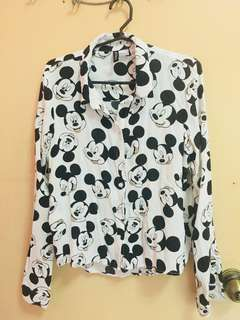 Mickey mouse button down