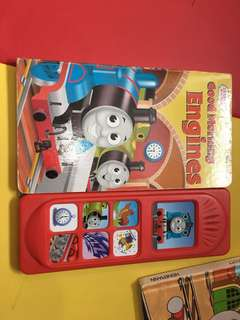 Pre-loved thomas play-a-sound book (hardboard)