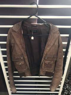 Brown Real Leather Jacket