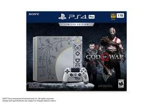 Playstation 4 Pro God of war edition