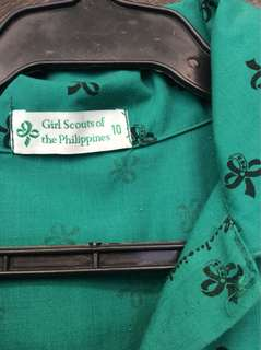 Girlscout uniform size 10 for 7 years old
