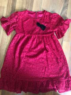 Preloved imported red dress