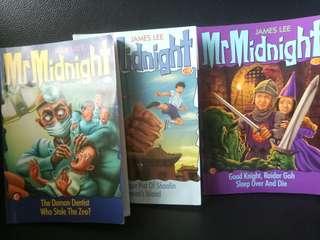 James Lee Mr Midnight 3 fiction books