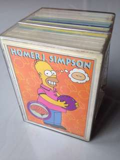 Double Full Sets of 1994 & 1995 Simpsons Series 1 & 2 Base Cards (Total of 160 cards) + free plastic box!