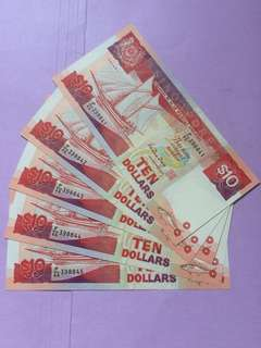 UNC $10 Ship Series