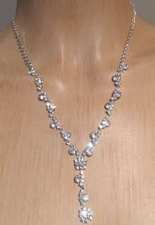 Silver necklace & earrings set