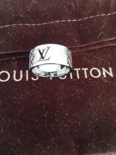 Authentic Louis Vuitton Silver Ring
