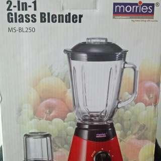 Blender 2 In 1 Glass Blender (Morries)