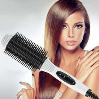 [PO794]2-in-1 Auto Electric Hair Comb Curler/Straightener