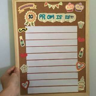 10 Promises Board - Wedding