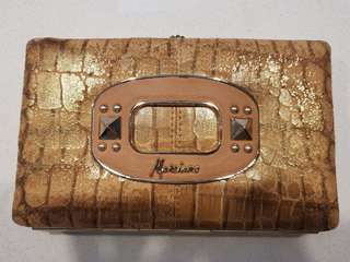 Guess Marciano brand new clutch wallet - bronze python