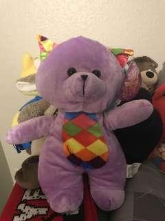 美國款紫色彩虹耳朵小熊