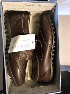 Jacardi brown kids shoes -New size 33 original price 1550