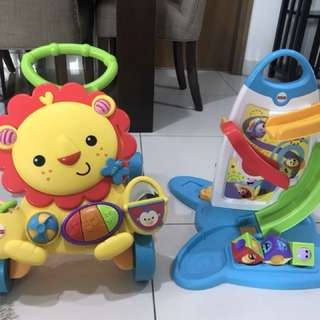 Baby walker and roller play wall