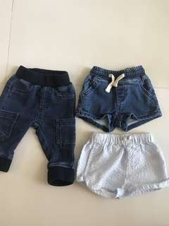 ALMOST NEW SEEDS HERITAGE JEAN & SHORTS