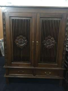 Antique Teak Wood TV Cabinet