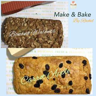 Accept orders for Banana Walnuts & Carrot Apple Bread