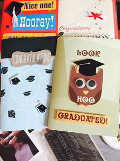 Cute Fancy Happy Graduation/ Congratulatory Greeting Cards