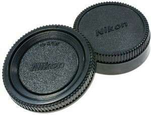 Rear and Body Cap For Nikon
