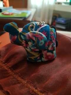 Cute elephant keychain holder