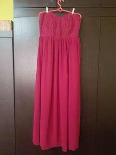 Love Bonito gown in magenta