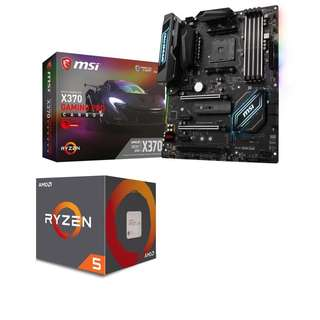 Price reduced Msi Motherboard with ryzen 5 combo